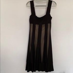 Maggy London black & sheer illusion dress 6